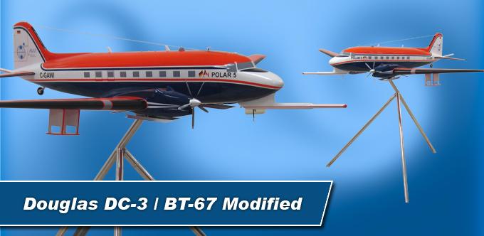 4 Foot Long Douglas DC-3 / BT-67 Modified